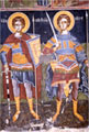 Wall painting in the old katholikon: saints Procopius and Nestor