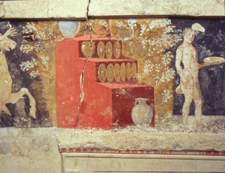 Ministry of culture and sports macedonian tomb at agios for Egyptian fresco mural painting