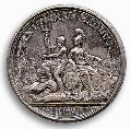 Russian Empire, silver medal issued in the name Peter the Great, 1672-1725.  Athens Numismatic Museum, Zosimas Collection