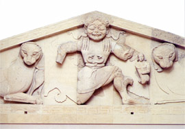 Central theme of the pediment
