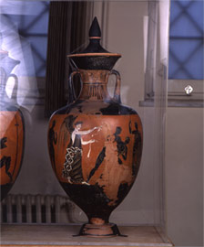 Main view of the amphora, in which Athena Promachos is depicted
