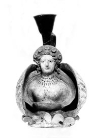 Main aspect of the vase with Aphrodite's bust