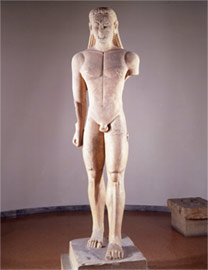 Front view of kouros