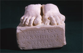 Votiv to Asklepios and Hygeia in form of two feet