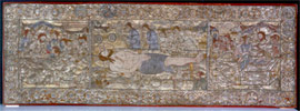 Gold-embroidered epitaphios of Thessaloniki