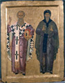 Icon of the saints Athanassios and Anthony