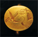 Signet ring representing a goddess and griffin