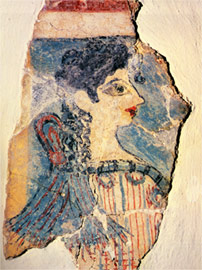 "The ""Parisian woman"", part of a fresco from Knosos"