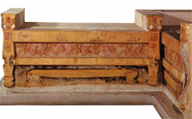 Marble funeral beds from the macedonian tomb at Poteidaia