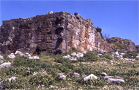 View of the acropolis fortification wall