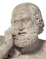 Aged seer from the east pediment of Zeus temple