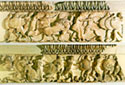 View of the Gigantomachy, north frieze