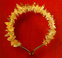 Golden wreath from the Hellenistic cemetery of Aghios Stephanos, near Chalkis
