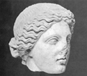 Head, probably from the statue group of Asklepios and his family, that founded near the great thermae at Dion