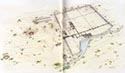 Perspective plan of the archaeological site of Dion