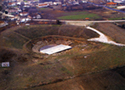Aerial photography of the hellenistic theatre of Dion