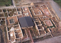 Aerial photography of the dionysos villa at Dion