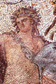 Part of the mosaic floor from the Dionysos villa at Dion with represantation of the god Dionysos