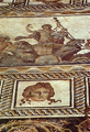 The central picture of the mosaic floor at the Dionysos villa with representation of Dionysos' triumphal appearance