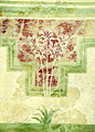 "Impressive frescoe with blossomed lilies and floral patterns from the ""Villa of the Lillies"""
