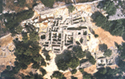 Aerial photography of the minoan necropolis at Phourni, Archanes