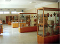 View of ceramic showcases