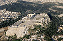 Aerial photo of Acropolis rock