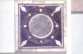 Marble incrustation from a wall in the church of St Demetrios