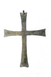 Bronze votive cross