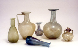 Glass vessels from tombs